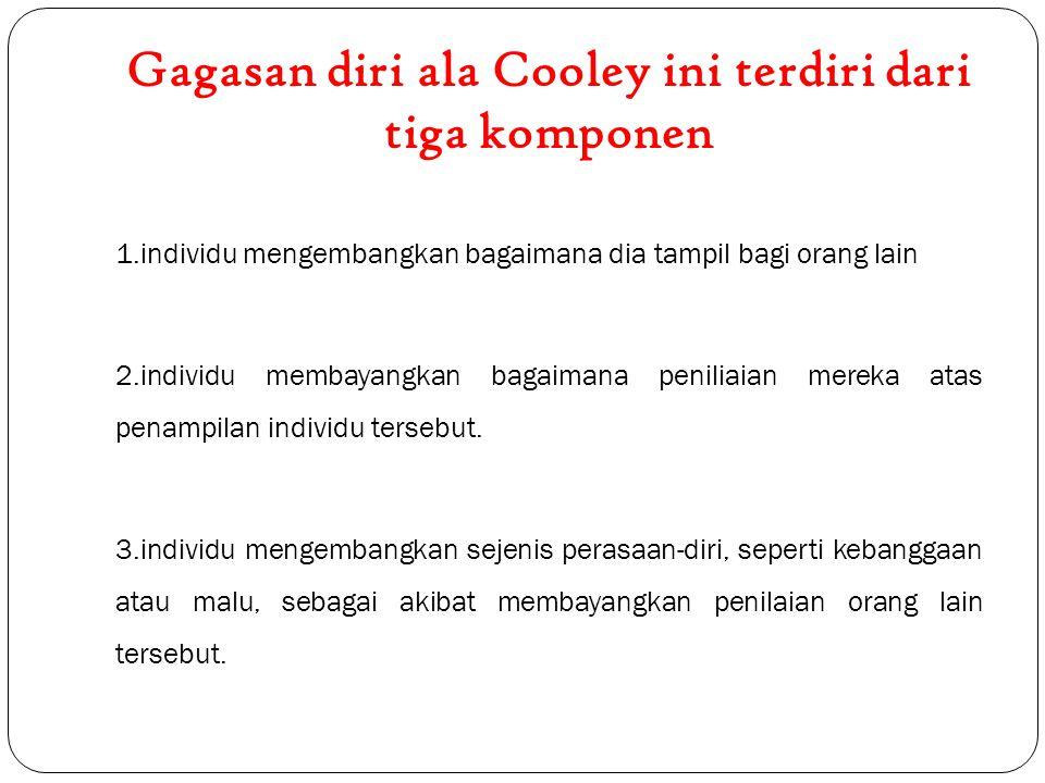Gagasan diri ala Cooley ini terdiri dari tiga komponen