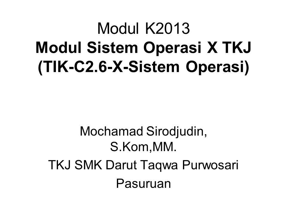 Modul K2013 Modul Sistem Operasi X TKJ (TIK-C2.6-X-Sistem Operasi)