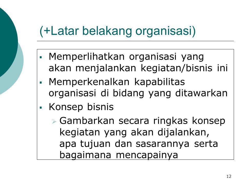 (+Latar belakang organisasi)