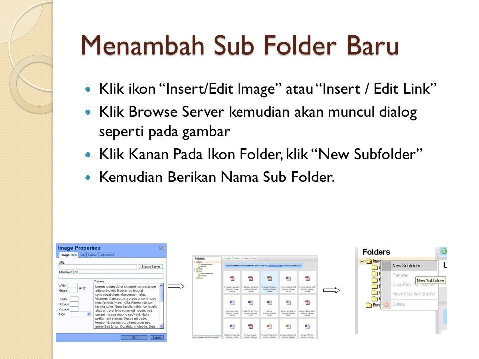 Menambah Sub Folder Baru