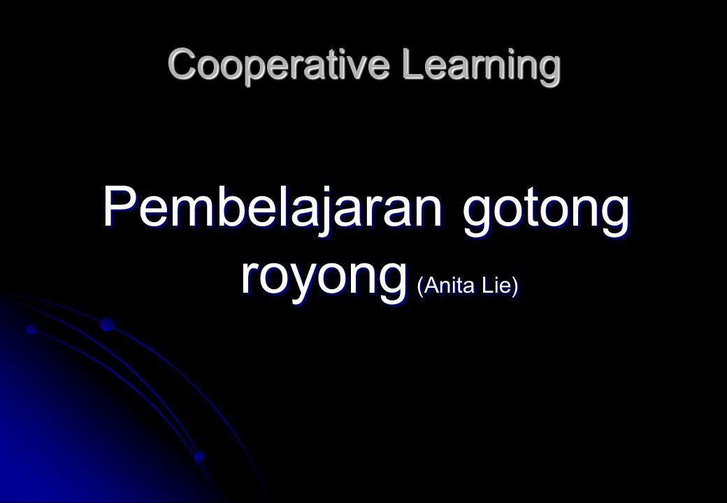 Pembelajaran gotong royong (Anita Lie)