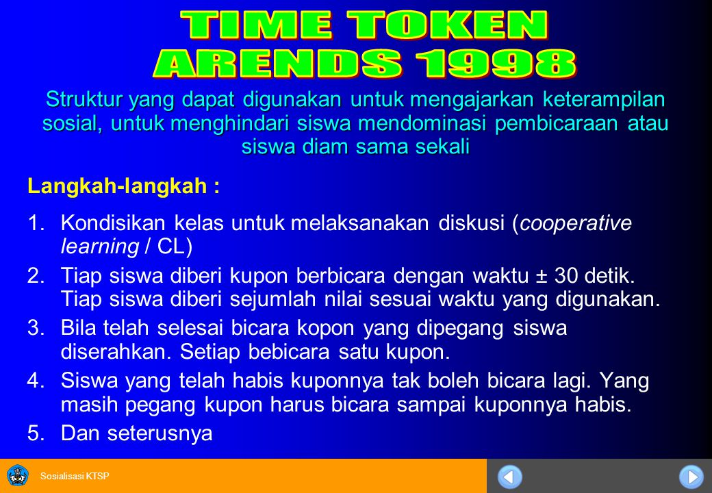 TIME TOKEN ARENDS