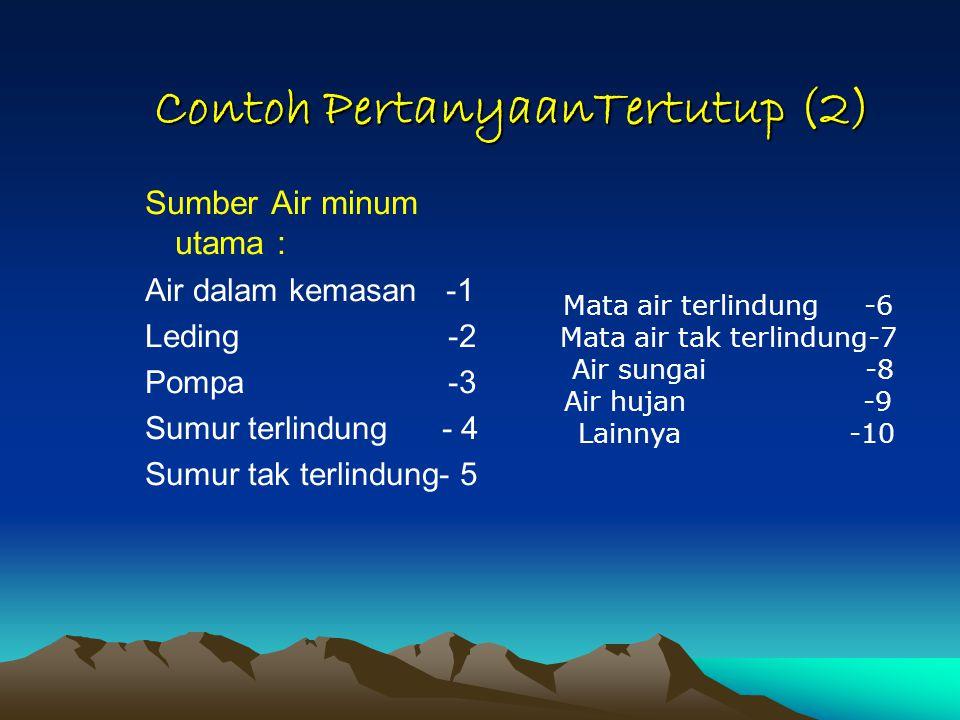 Contoh PertanyaanTertutup (2)