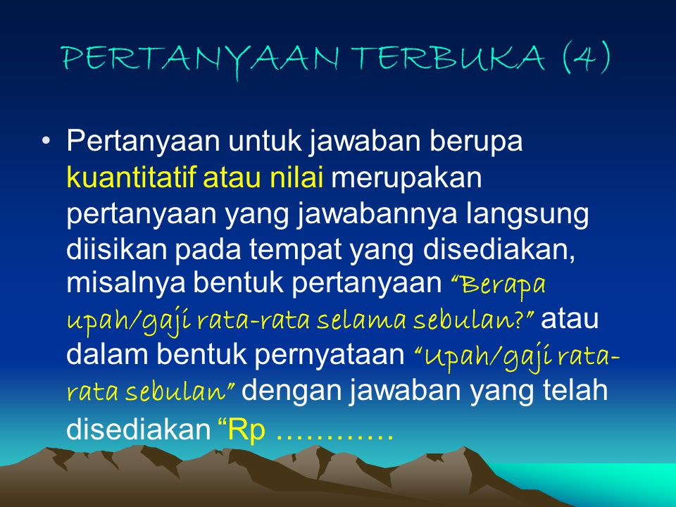 PERTANYAAN TERBUKA (4)