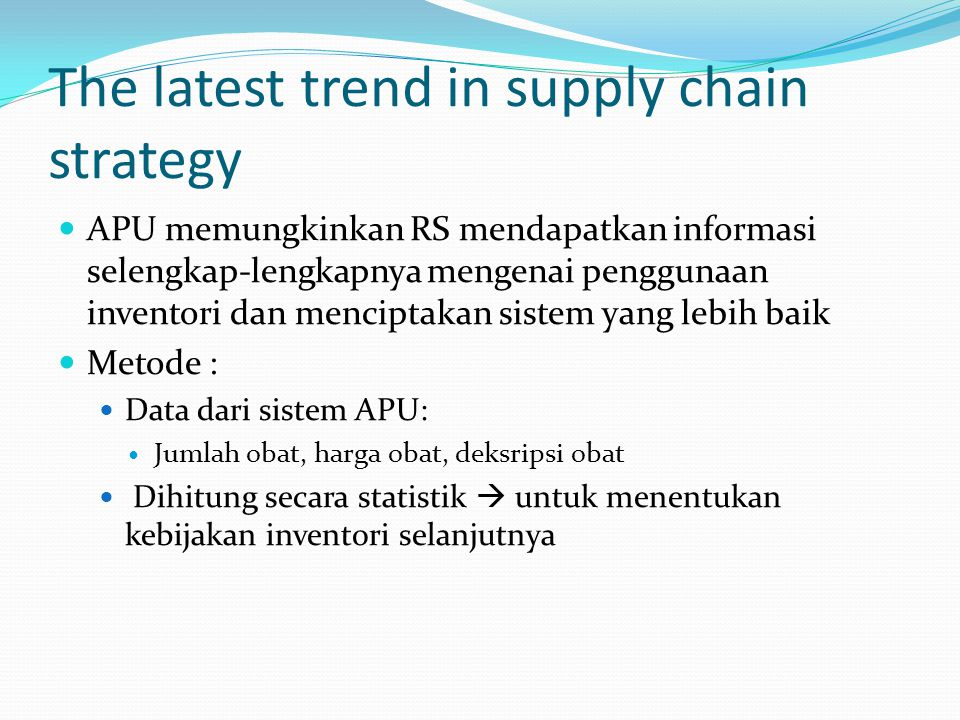 The latest trend in supply chain strategy
