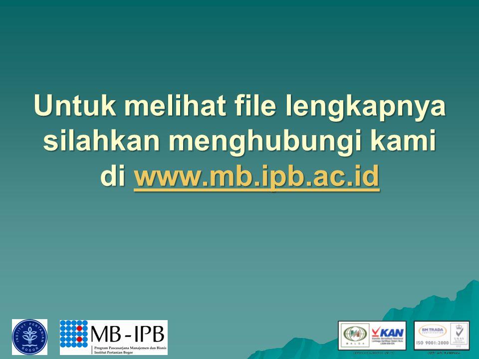 Untuk melihat file lengkapnya silahkan menghubungi kami di www.mb.ipb.ac.id