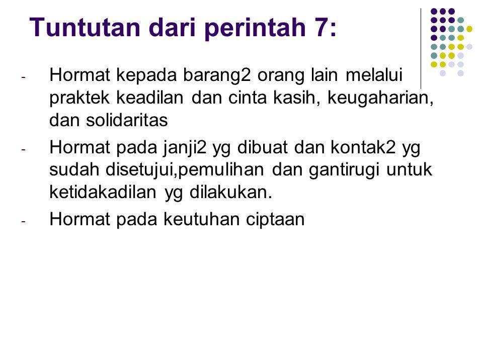 Tuntutan dari perintah 7: