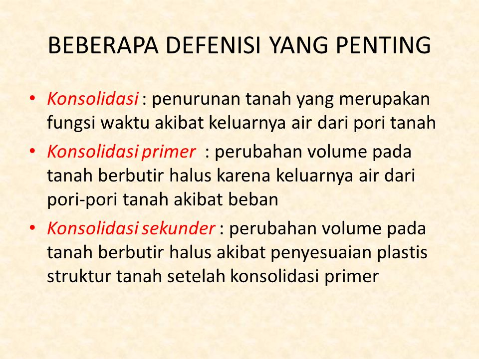 BEBERAPA DEFENISI YANG PENTING
