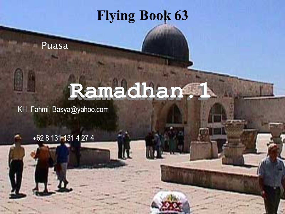 Ramadhan.1 Flying Book 63 Puasa KH_Fahmi_Basya@yahoo.com