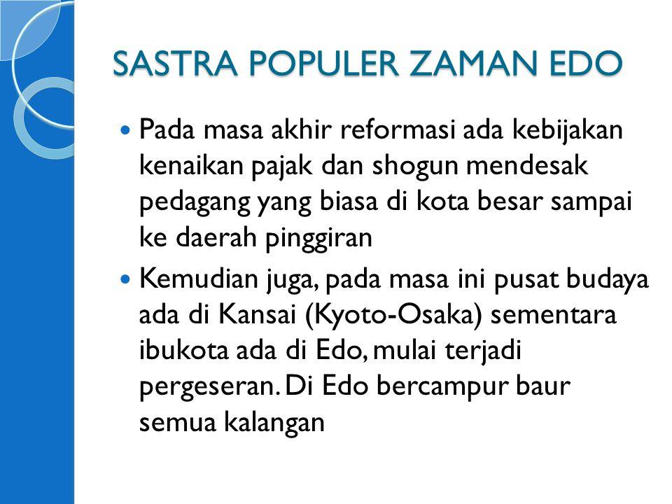 SASTRA POPULER ZAMAN EDO