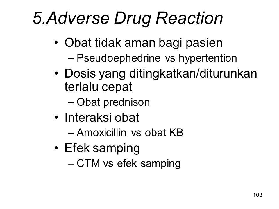 5.Adverse Drug Reaction Obat tidak aman bagi pasien