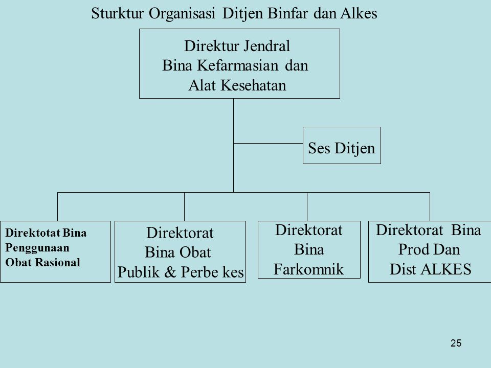 Sturktur Organisasi Ditjen Binfar dan Alkes