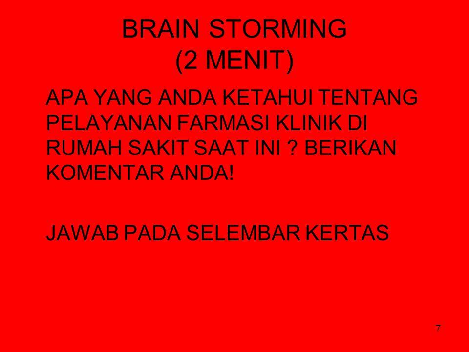 BRAIN STORMING (2 MENIT)