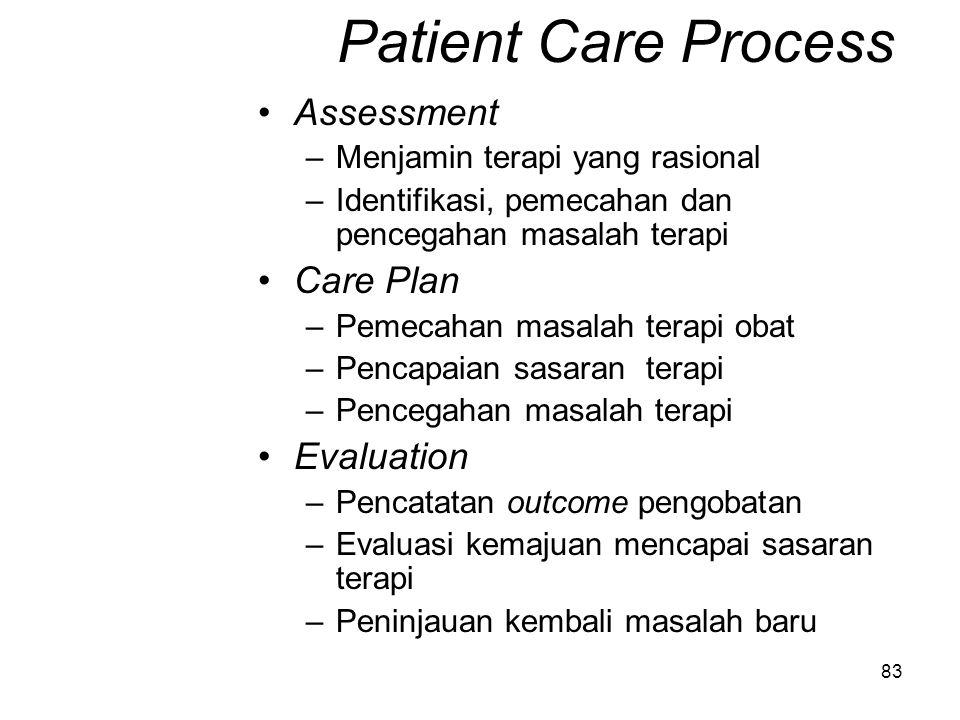 Patient Care Process Assessment Care Plan Evaluation