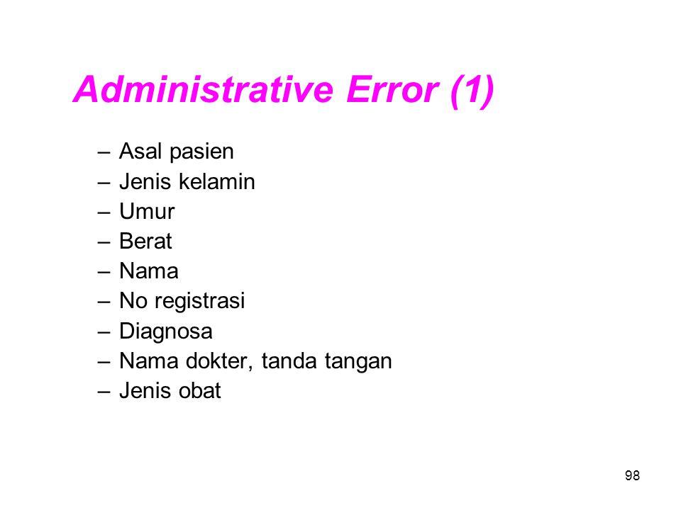 Administrative Error (1)