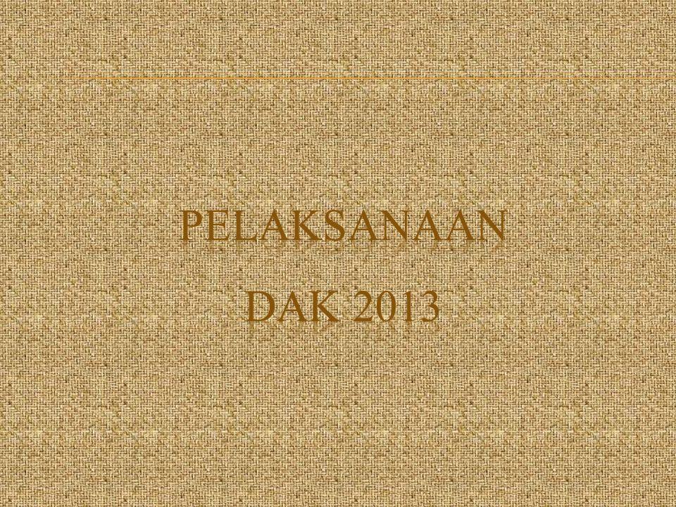 PELAKSANAAN DAK 2013