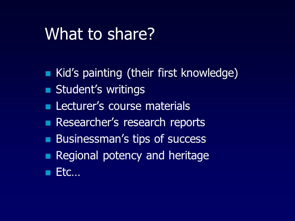 What to share Kid's painting (their first knowledge)