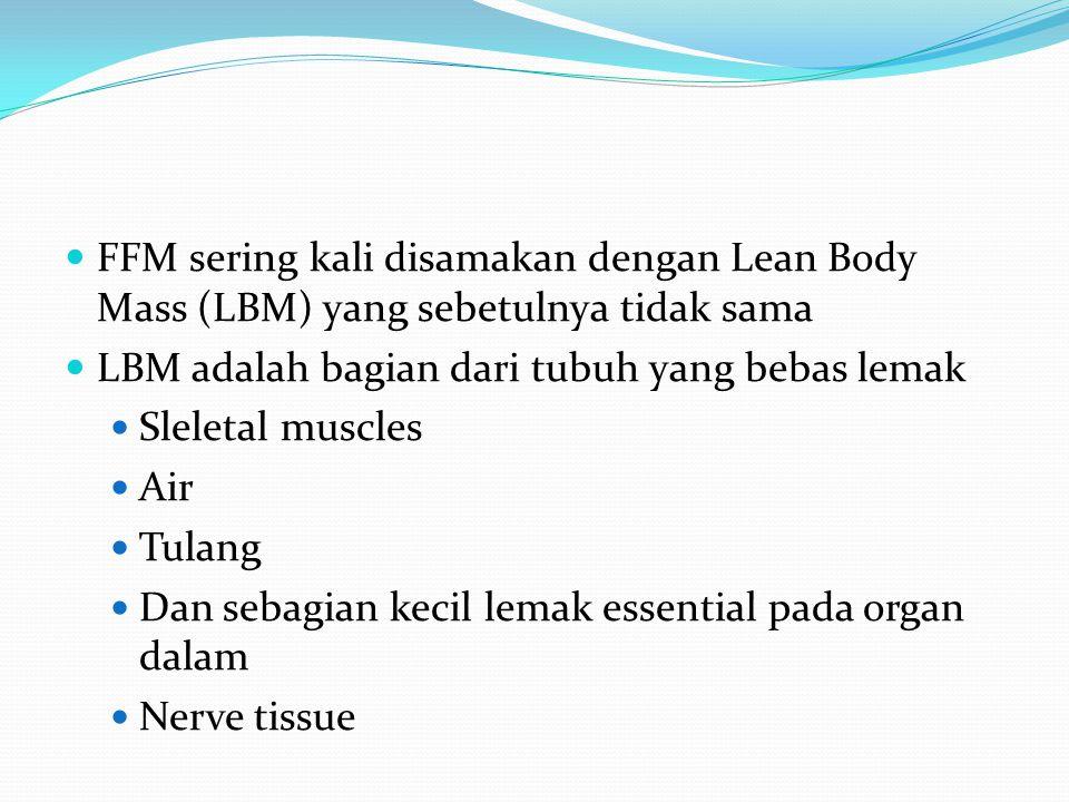 FFM sering kali disamakan dengan Lean Body Mass (LBM) yang sebetulnya tidak sama