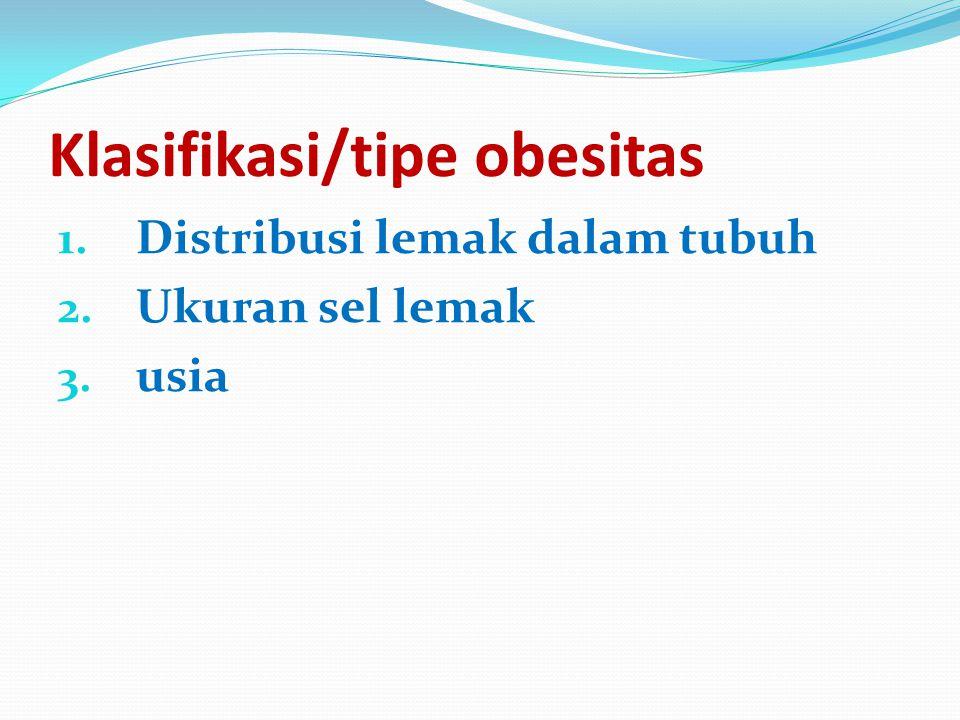 Klasifikasi/tipe obesitas