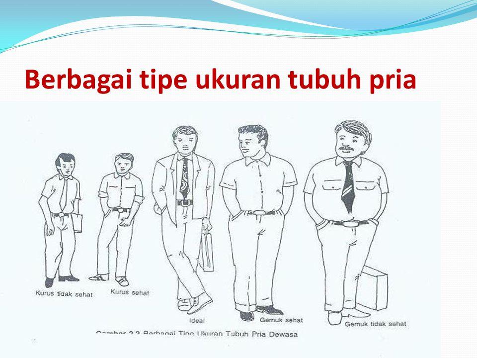 Berbagai tipe ukuran tubuh pria