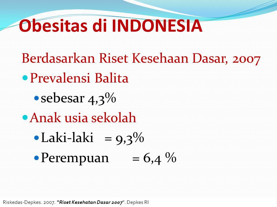 Obesitas di INDONESIA Berdasarkan Riset Kesehaan Dasar, 2007