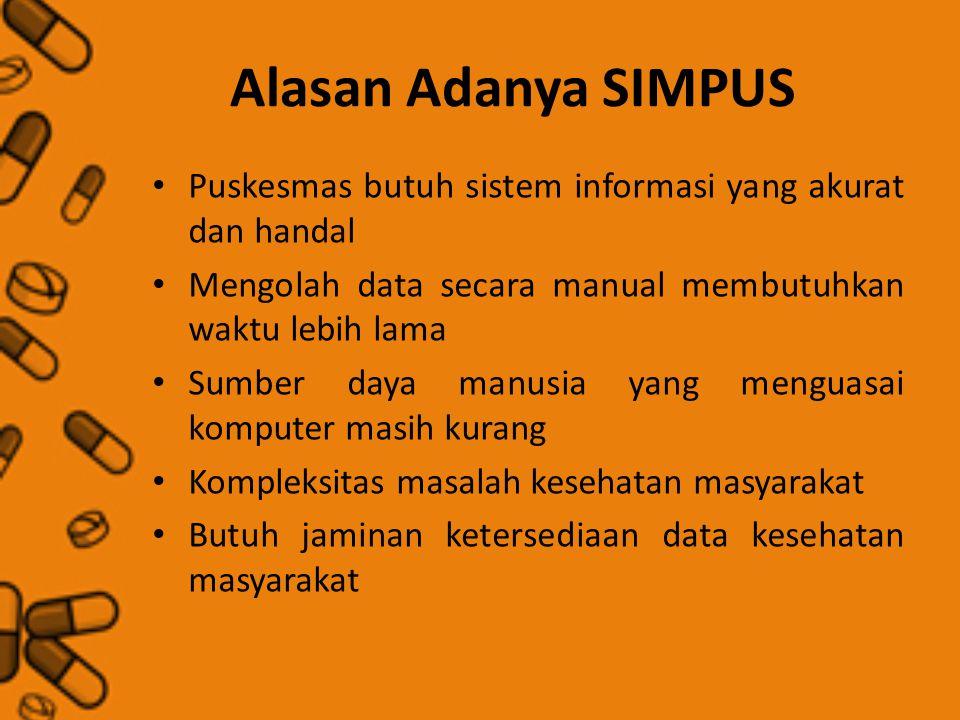 Alasan Adanya SIMPUS Puskesmas butuh sistem informasi yang akurat dan handal. Mengolah data secara manual membutuhkan waktu lebih lama.