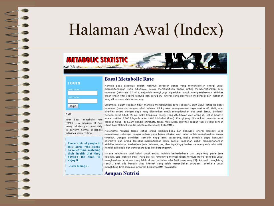 Halaman Awal (Index)