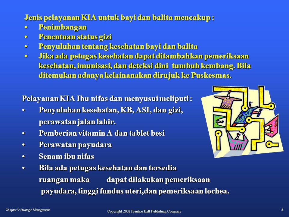 Jenis pelayanan KIA untuk bayi dan balita mencakup : •. Penimbangan •