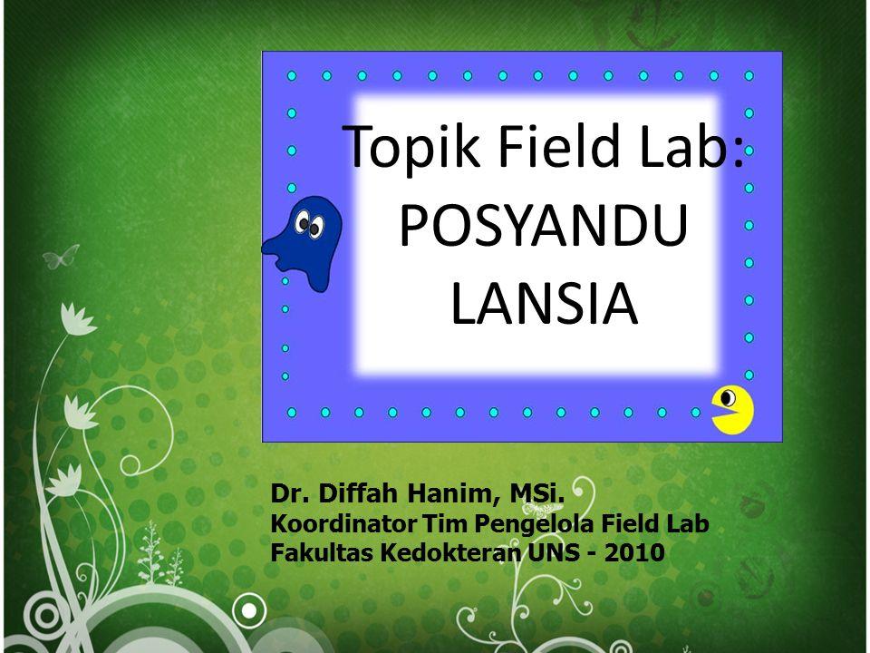 Topik Field Lab: POSYANDU LANSIA