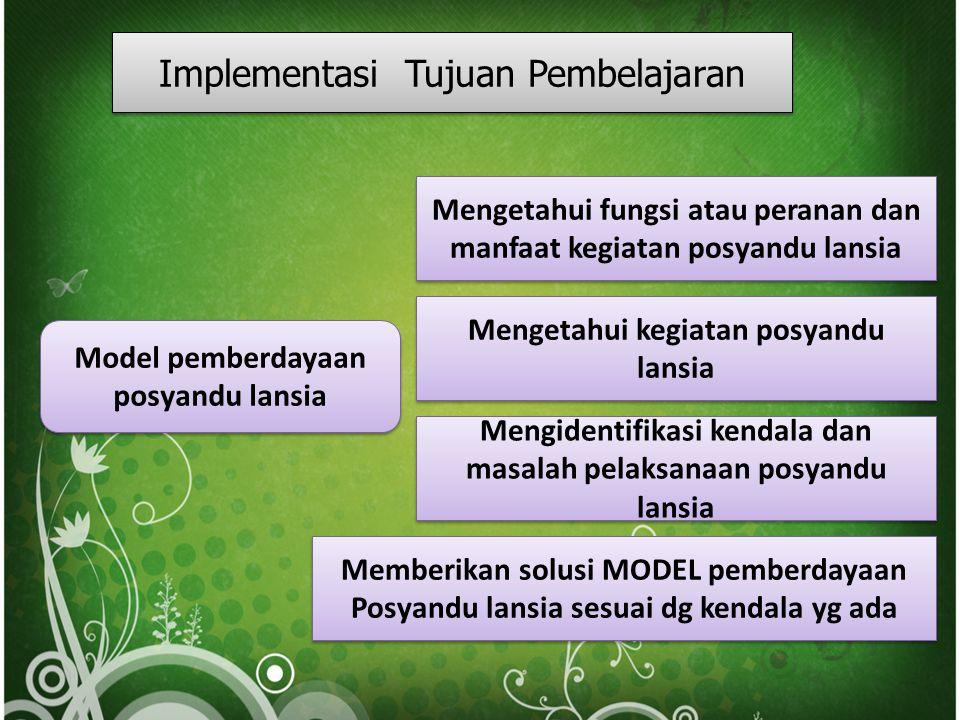 Implementasi Tujuan Pembelajaran