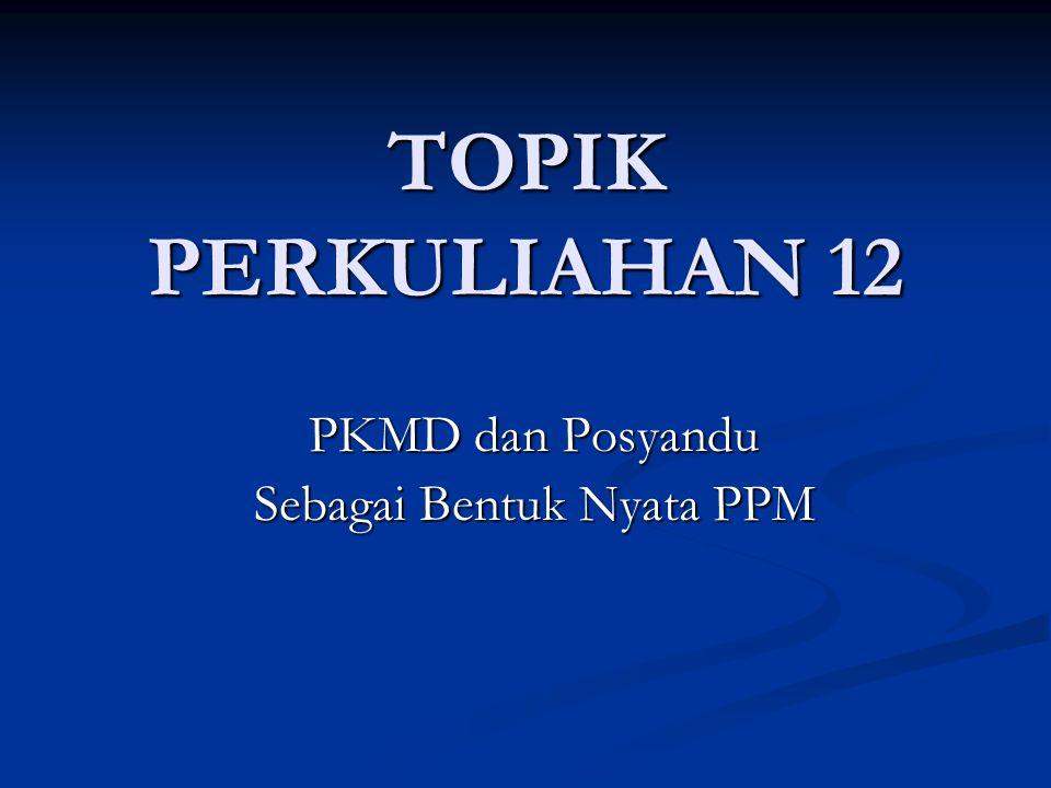 PKMD dan Posyandu Sebagai Bentuk Nyata PPM