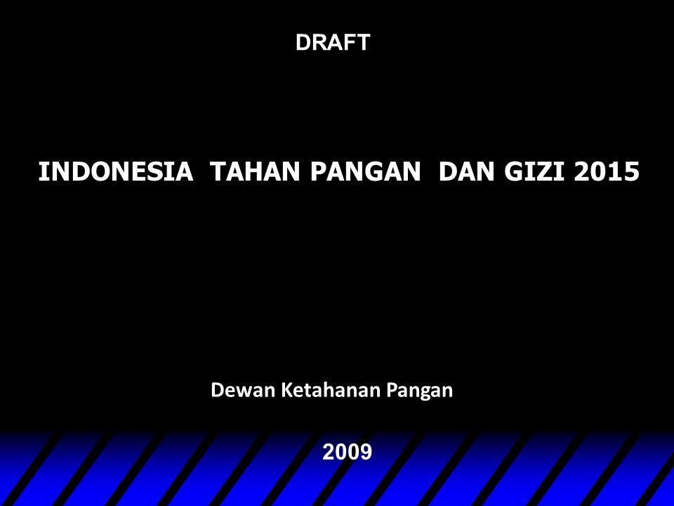 INDONESIA TAHAN PANGAN DAN GIZI 2015 Dewan Ketahanan Pangan