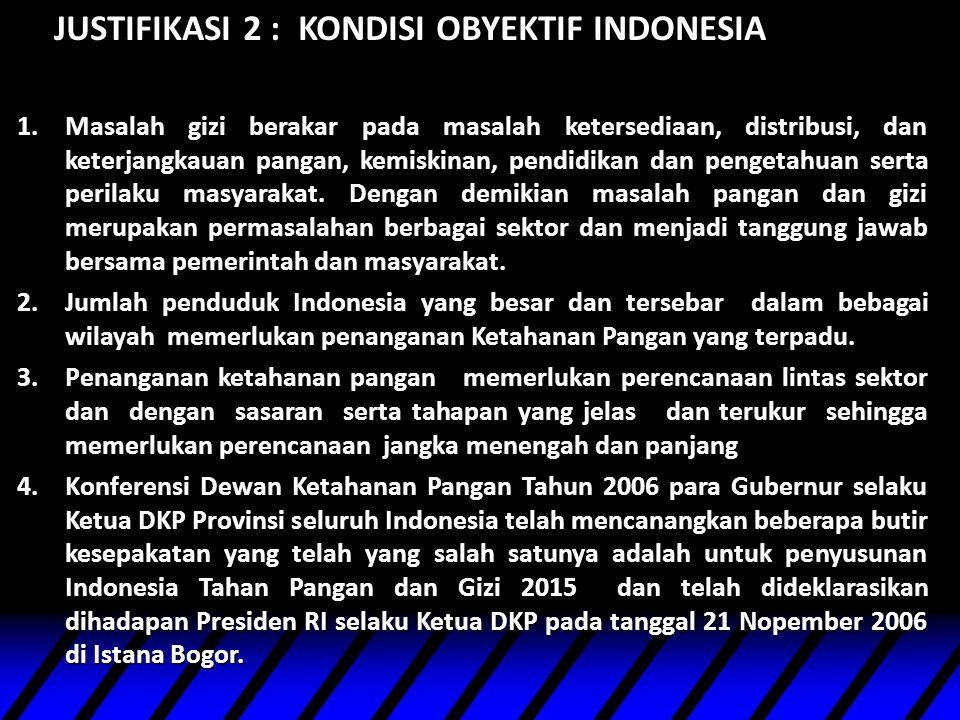 JUSTIFIKASI 2 : KONDISI OBYEKTIF INDONESIA