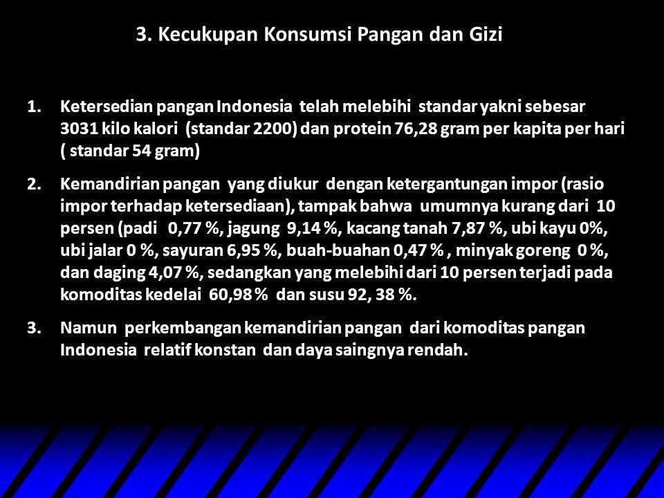 3. Kecukupan Konsumsi Pangan dan Gizi