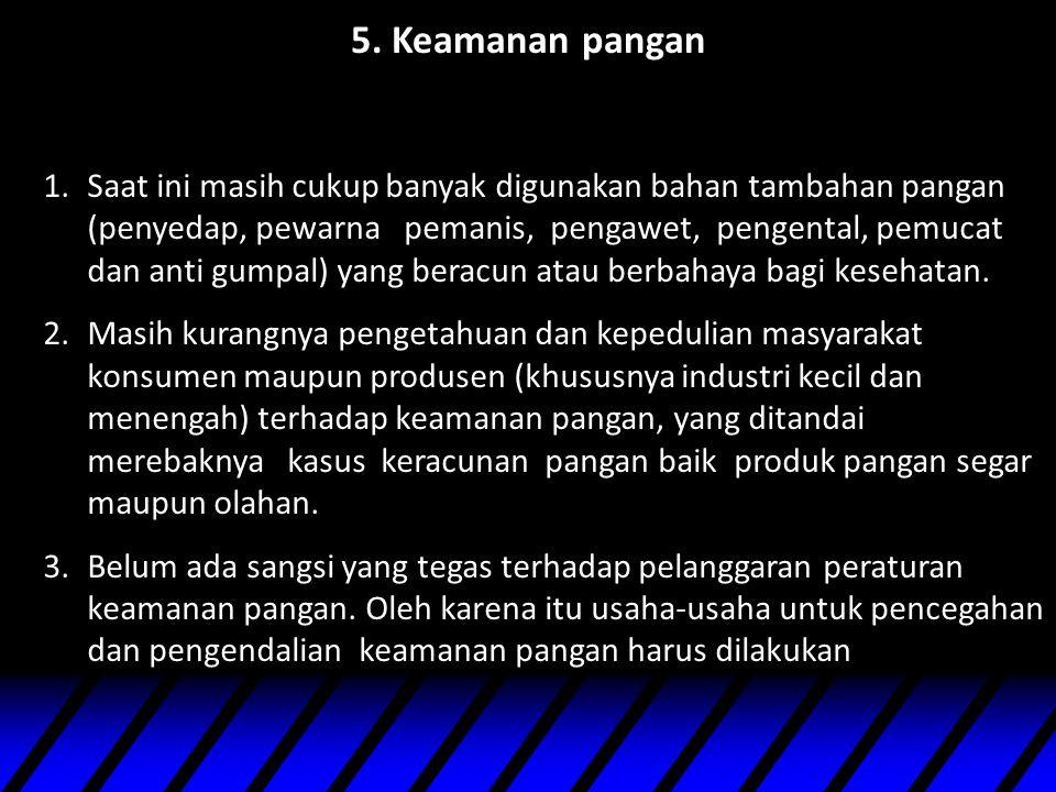 5. Keamanan pangan