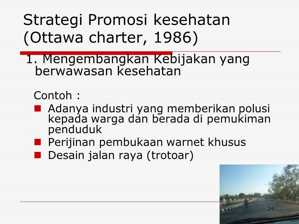 Strategi Promosi kesehatan (Ottawa charter, 1986)