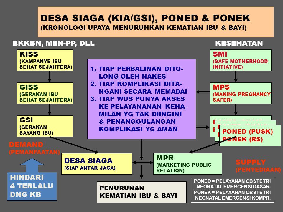 DESA SIAGA (KIA/GSI), PONED & PONEK