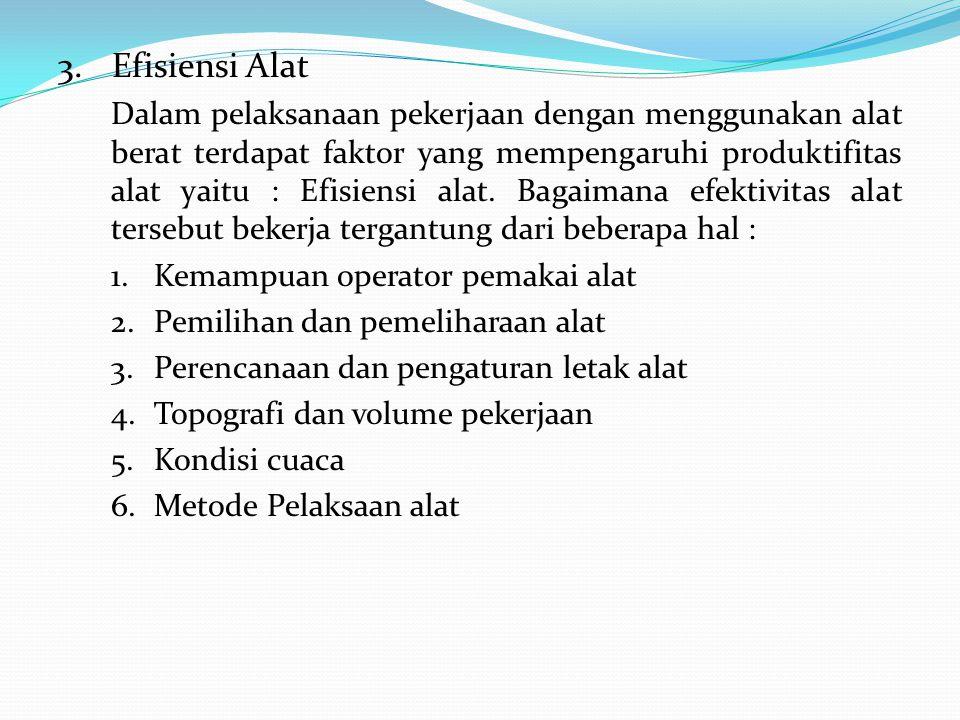 3. Efisiensi Alat