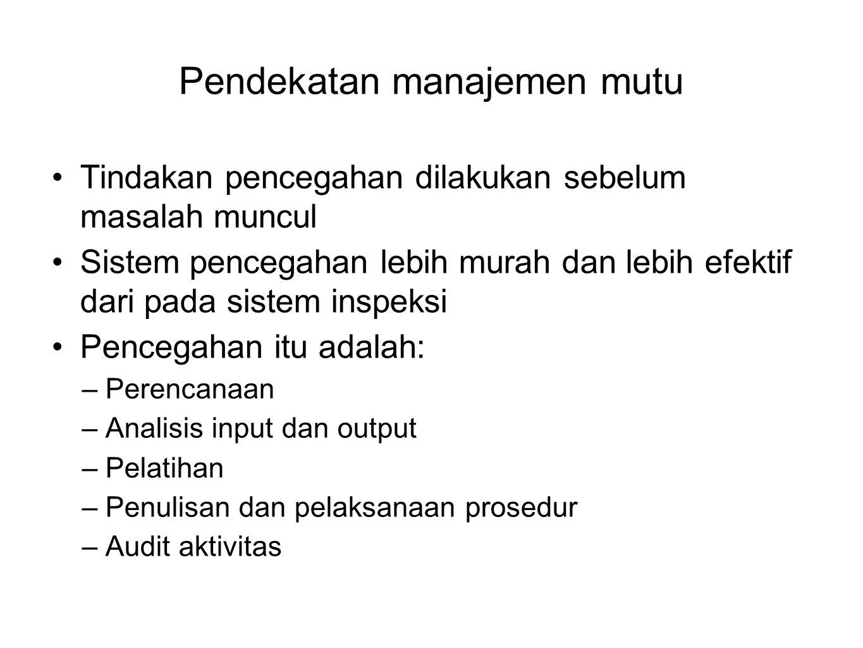 Pendekatan manajemen mutu