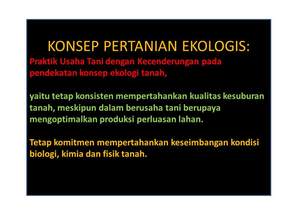 KONSEP PERTANIAN EKOLOGIS: