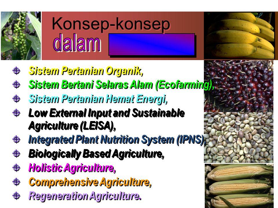 Konsep-konsep ________ dalam Sistem Pertanian Organik,