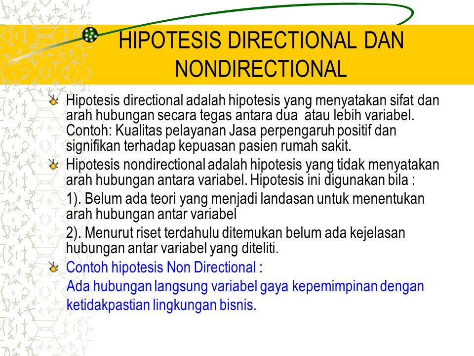 HIPOTESIS DIRECTIONAL DAN NONDIRECTIONAL