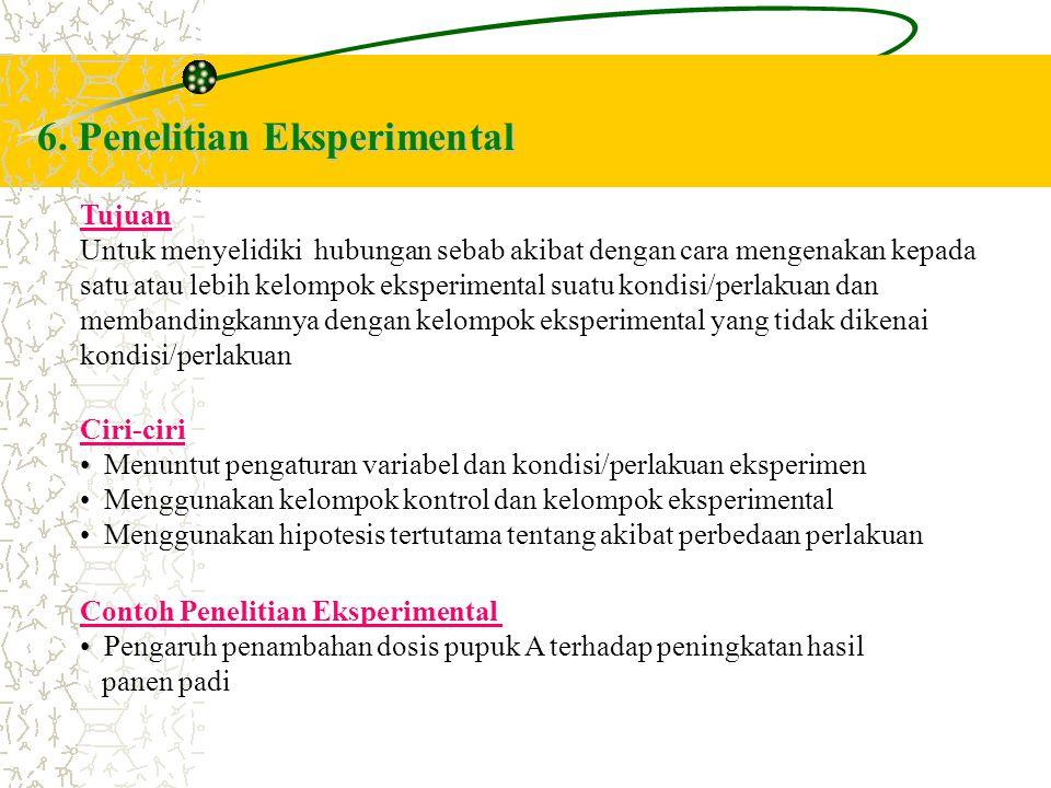 6. Penelitian Eksperimental