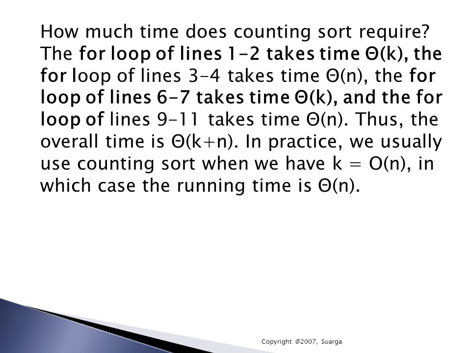 How much time does counting sort require