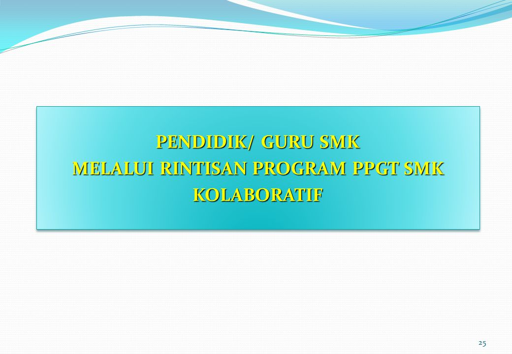 MELALUI RINTISAN PROGRAM PPGT SMK KOLABORATIF