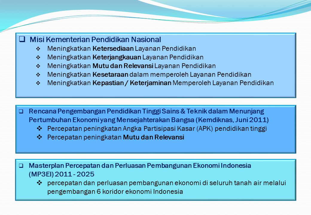 Misi Kementerian Pendidikan Nasional