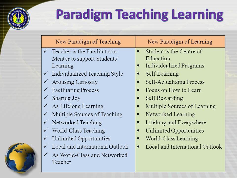 Paradigm Teaching Learning