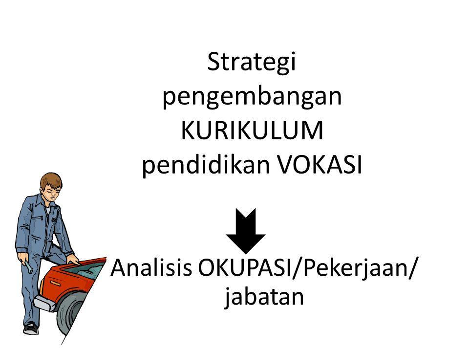 Strategi pengembangan KURIKULUM pendidikan VOKASI