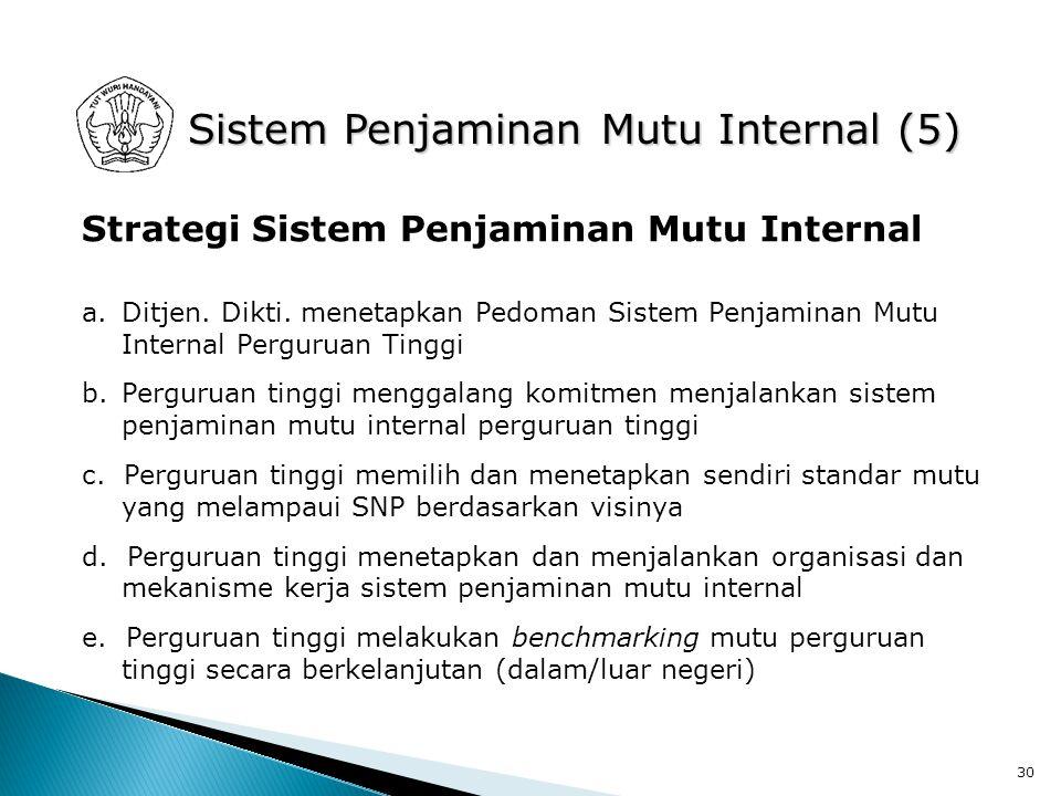 Sistem Penjaminan Mutu Internal (5)