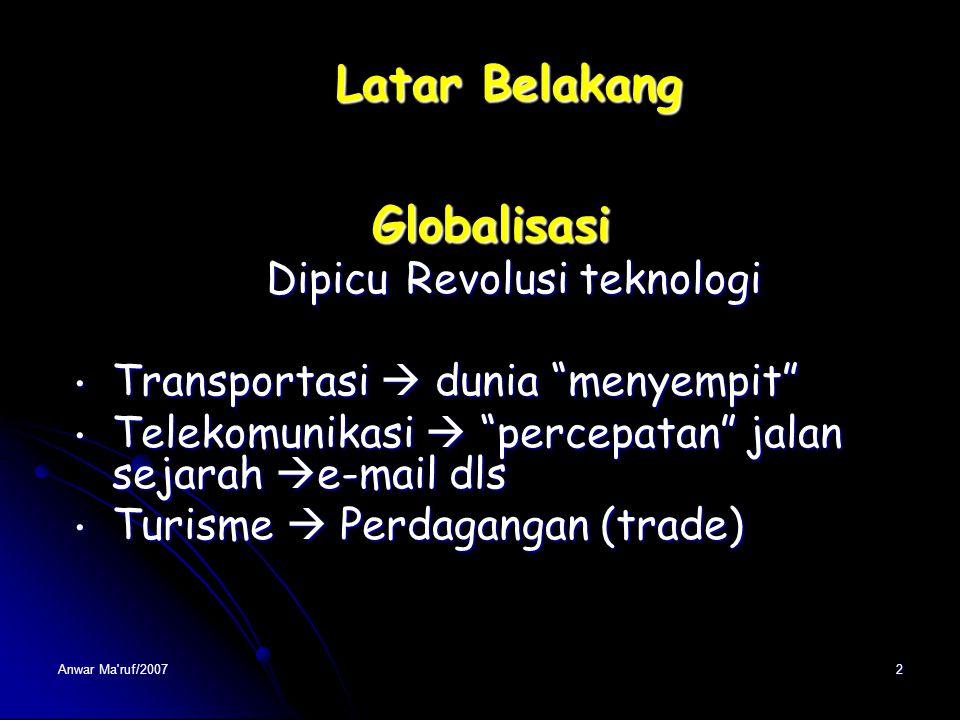 Latar Belakang Globalisasi